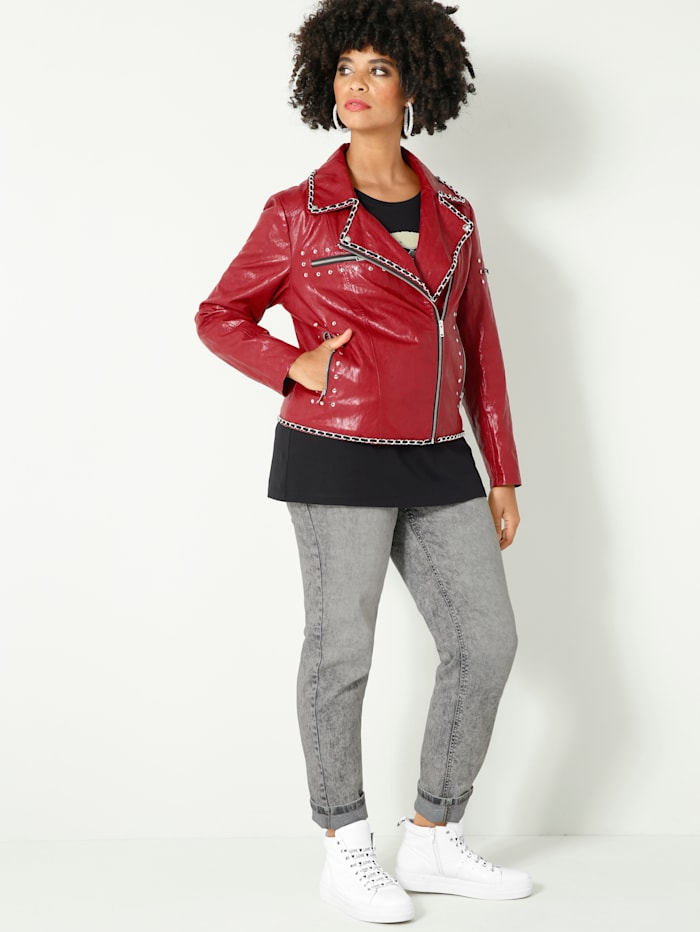 Angel of Style Jeans Carla Slim Fit, Grau