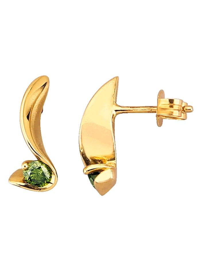 Diemer Diamant Ohrstecker mit Brillanten, Grün