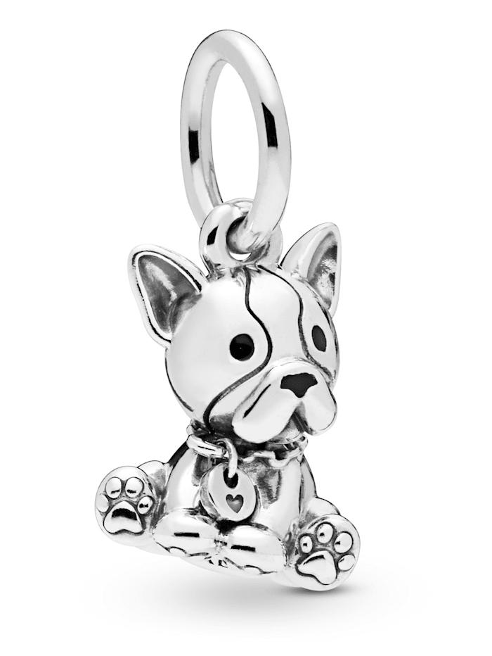 Pandora Charm-Anhänger -Bulldogge Welpe- 798008EN16, Silberfarben