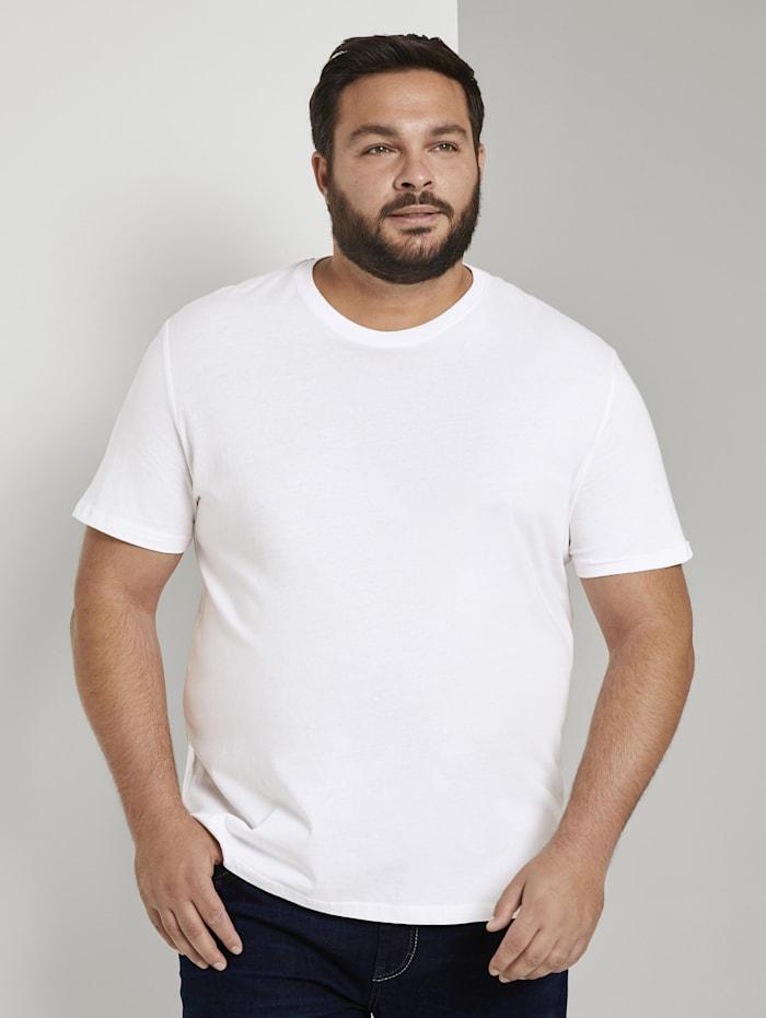 Tom Tailor Men Plus Doppelpack Basic T-Shirts, White