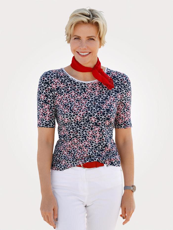 Barbara Lebek Shirt, Marineblau/Rot