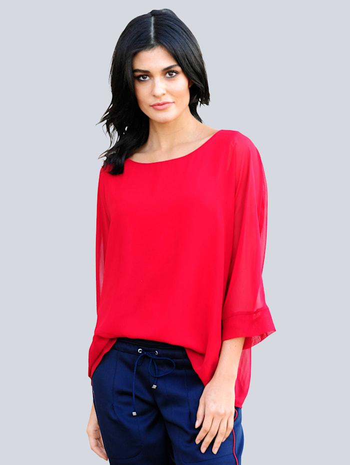 Alba Moda Bluse in trendiger Oversizedform, Rot