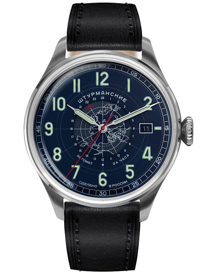 Sturmanskie Herren-Armbanduhr Heritage Arctic Automatik 24h Blau, Blau