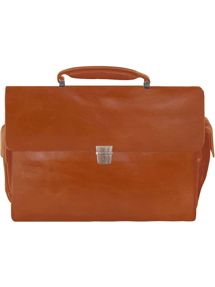 Braun Büffel Texas Aktentasche Leder 43 cm Laptopfach, cognac