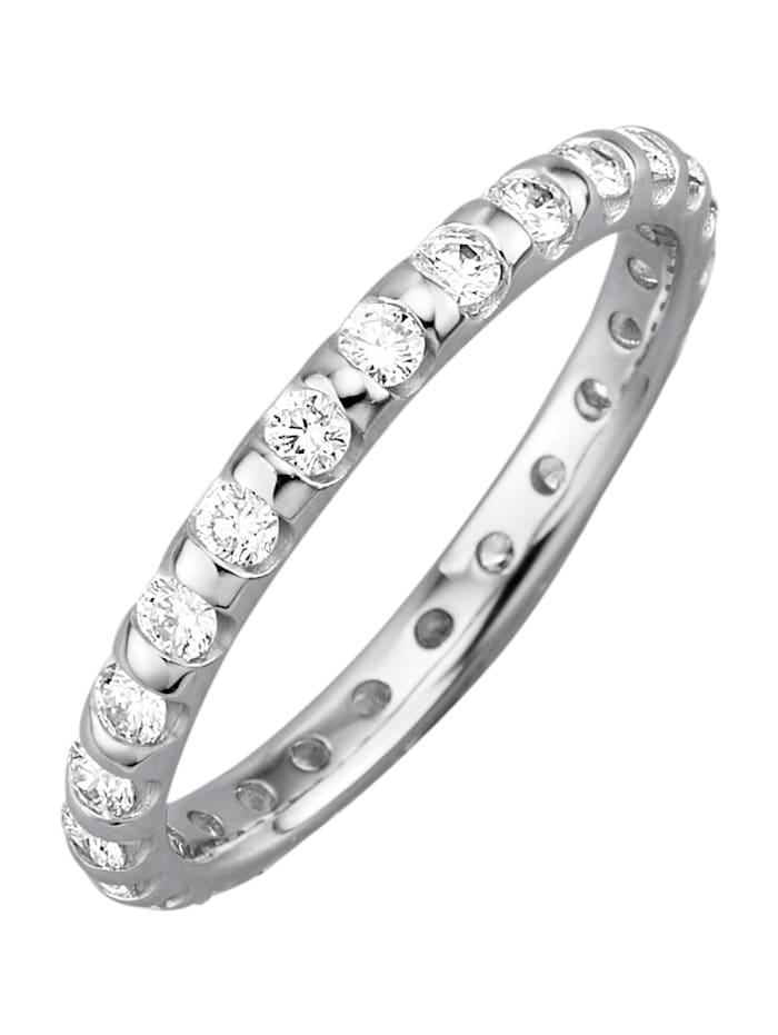 Amara Diamant Memoirering mit Brillanten, Weiß