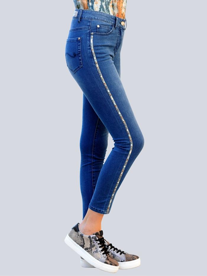 Jeans mit Schmuckband