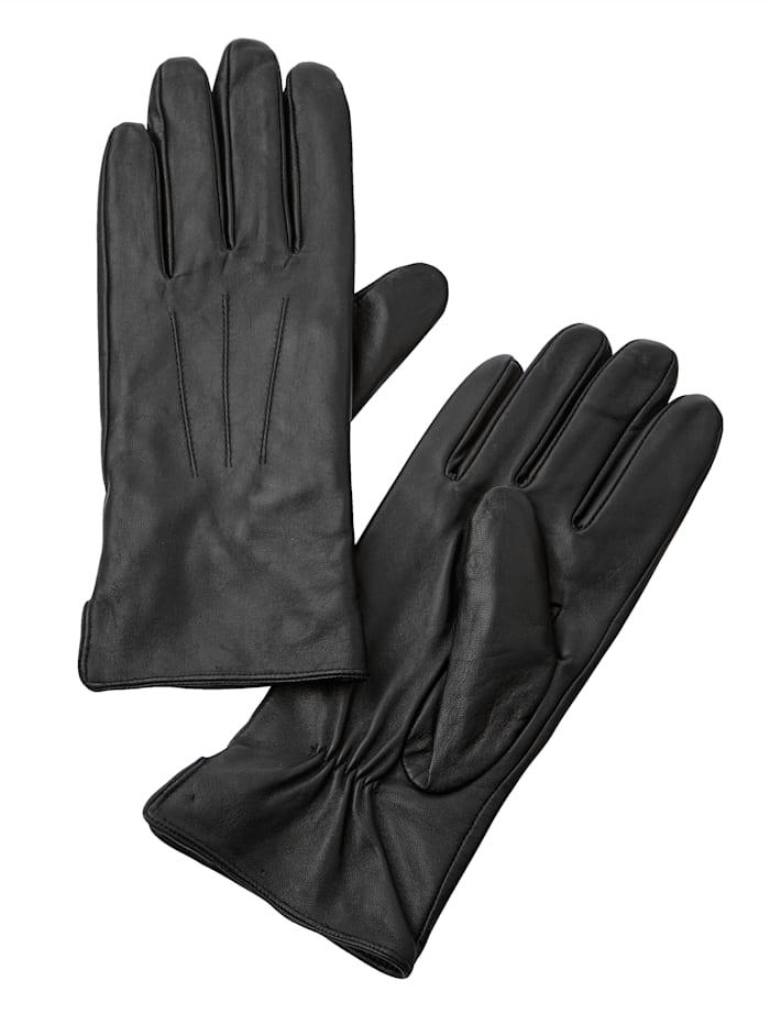 Paola Kožené rukavice z měkké jehněčí nappa kůže, Černá