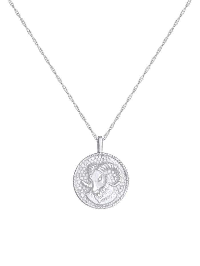 Halskette Sternzeichen Widder Münze 925 Silber