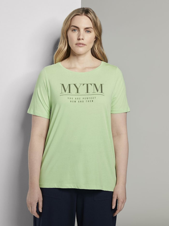 MY TRUE ME by Tom Tailor T-Shirt mit Artwork, light pistachio green