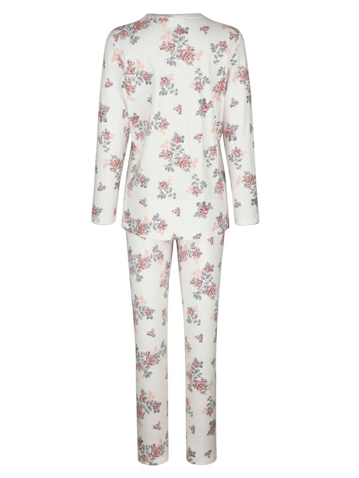 Pyjama met romantische details van kant
