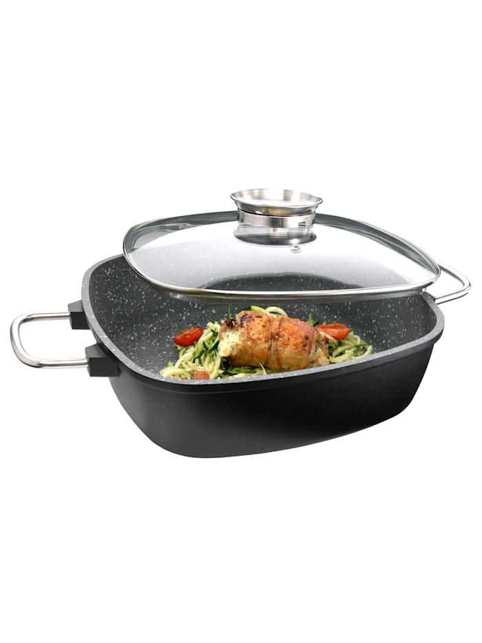 GSW Firkantet panne -Gourmet Granit-, svart