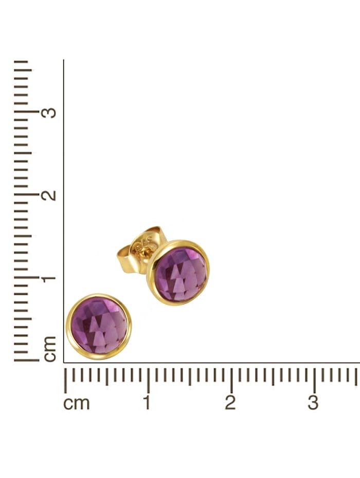 Ohrstecker 375/- Gold Amethyst lila 0,7cm Glänzend 375/- Gold