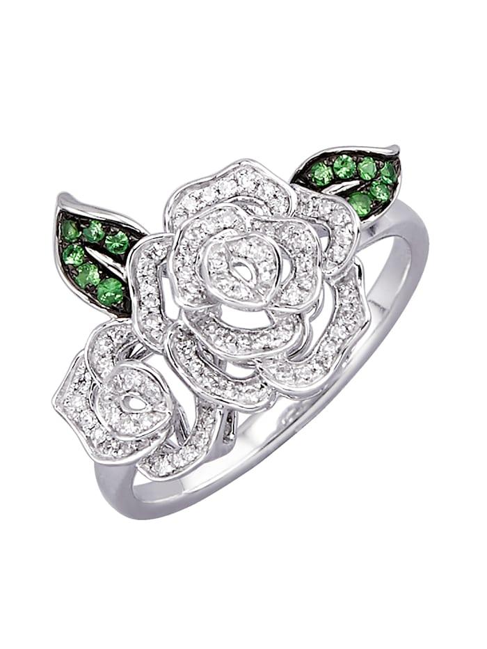 Amara Diamants Bague à diamants, Coloris or blanc