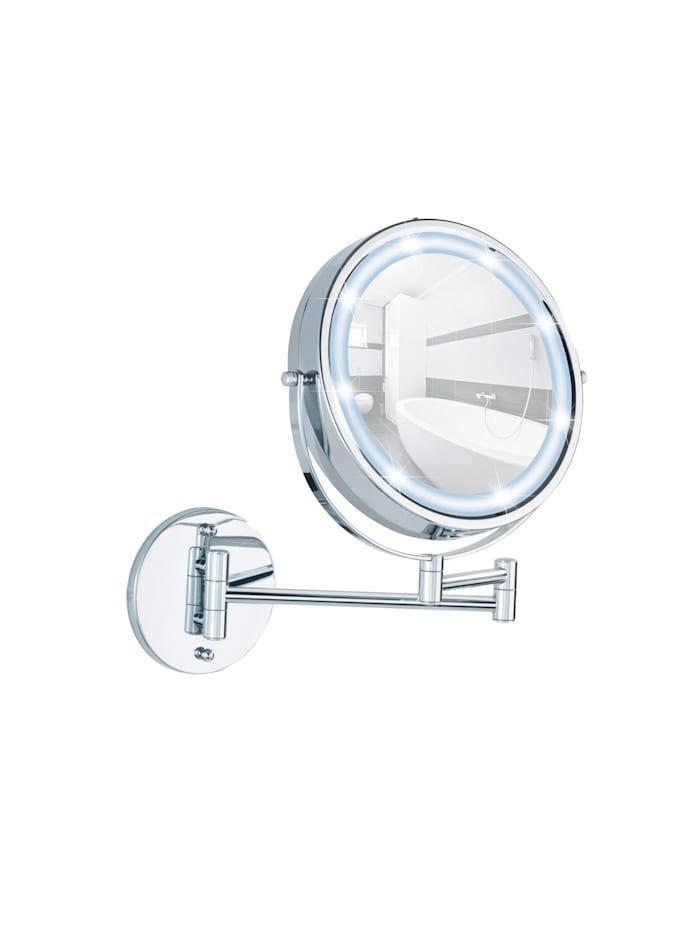 Power-Loc® LED Wandspiegel Lumi, 5-fach Vergrößerung, Befestigen ohne bohren
