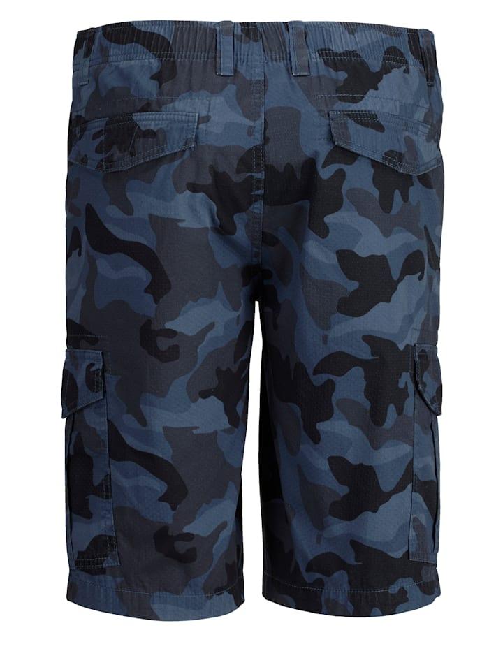 Shorts med kamouflagemönster