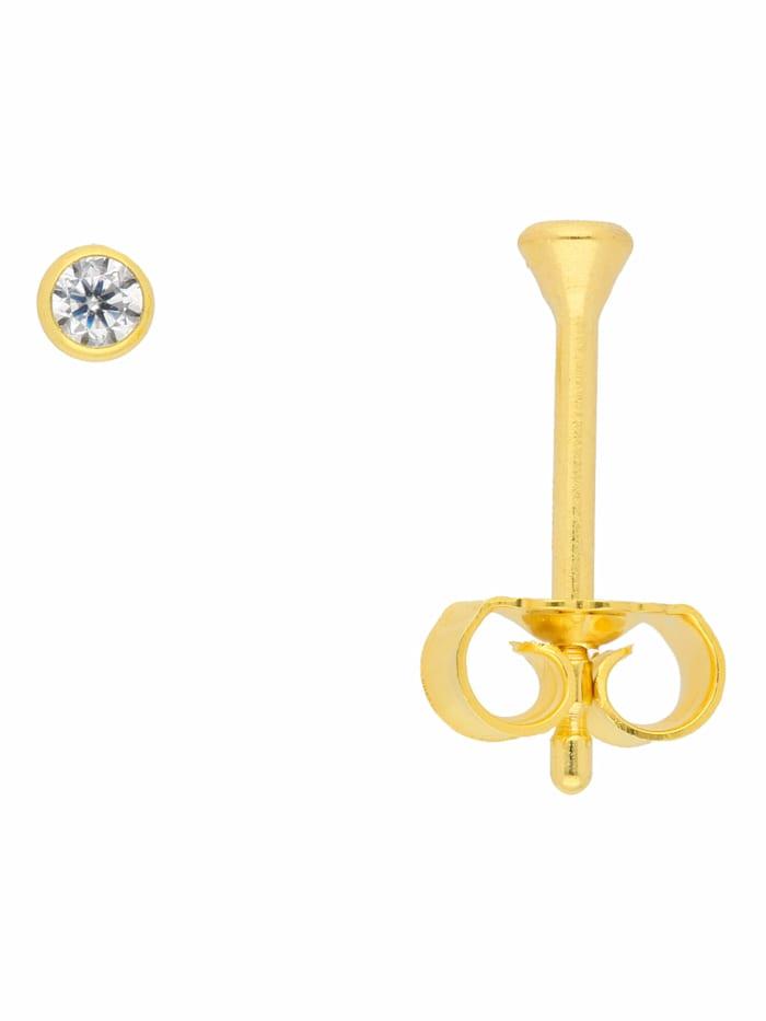 1001 Diamonds 1001 Diamonds Damen Goldschmuck 333 Gold Ohrringe / Ohrstecker mit Zirkonia Ø 2,5 mm, gold