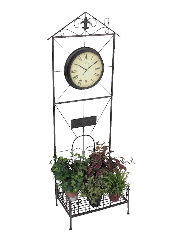 Pflanzregal mit Uhr