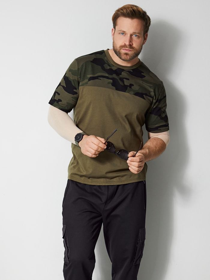 Men Plus T-Shirt schnelltrocknend, Oliv