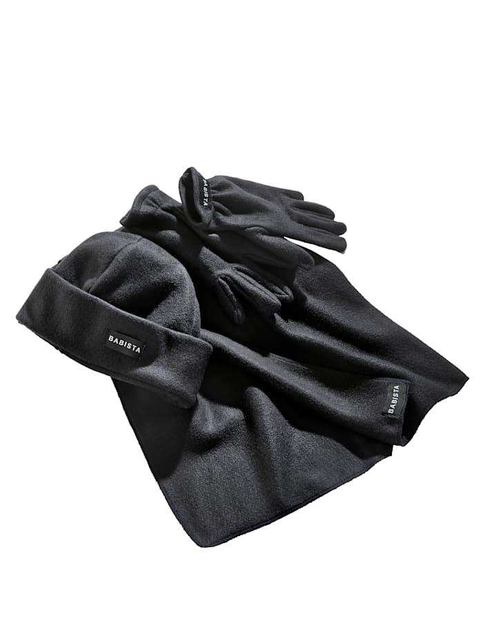 BABISTA Écharpe & gants en polaire, Anthracite