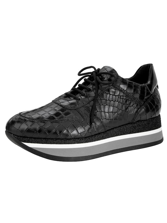 Platform trainers with crocodile pattern