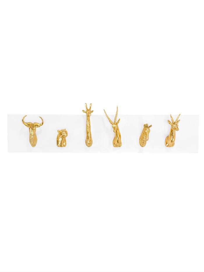 IMPRESSIONEN living Garderobe, weiß/goldfarben