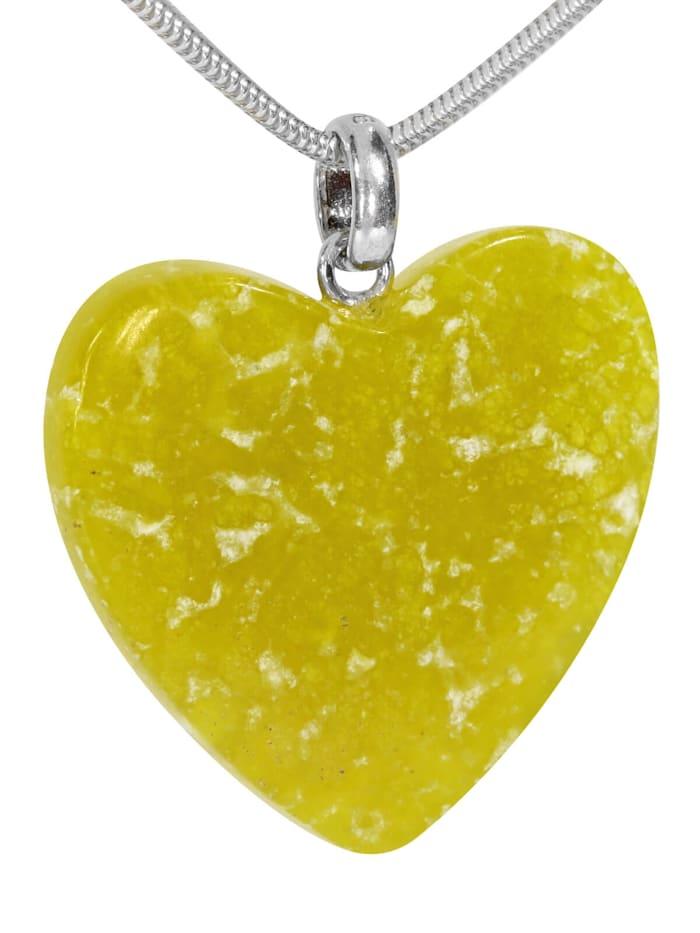 1001 Diamonds Damen Schmuck Edelstein Lizardit Anhänger 925 Silber grün, grün