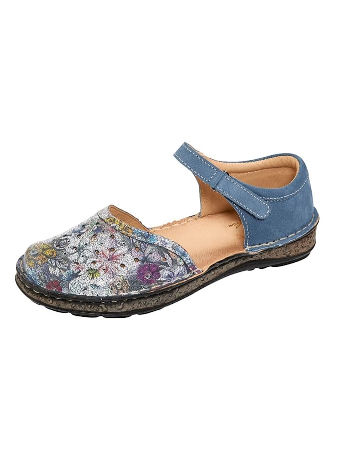 Naturläufer Sandales à découpes estivales, Bleu