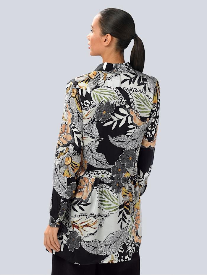 Bluse mit floralem allover Print