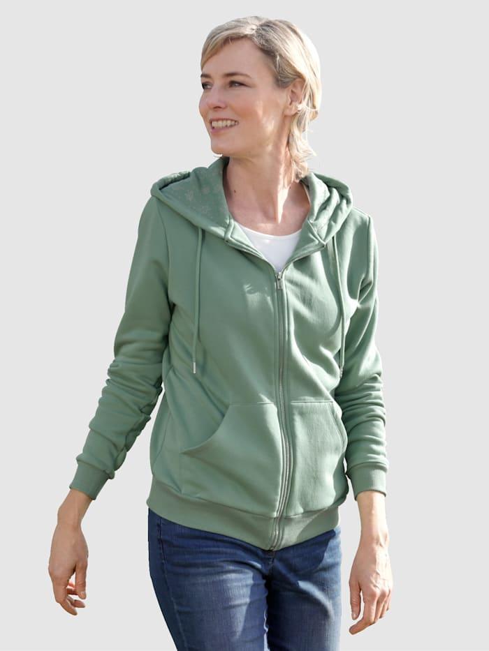 Dress In Sweatjacke mit Kapuze, Salbeigrün