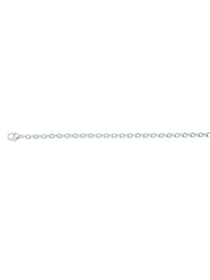 1001 Diamonds Damen Silberschmuck 925 Silber Anker Halskette 45 cm Ø 3,6 mm, silber
