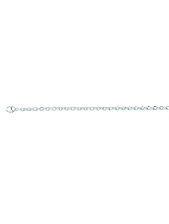 1001 Diamonds Damen Silberschmuck 925 Silber Anker Halskette 50 cm Ø 3,6 mm, silber
