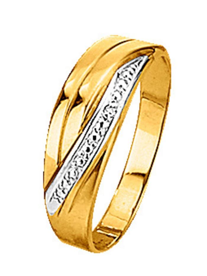 Bague avec diamant, Coloris or jaune