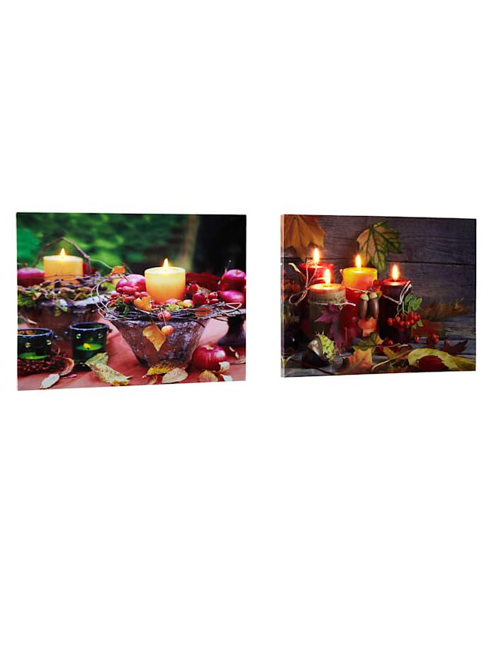 Tewa 2er Set Wandbilder Herbst, Mehrfarbig