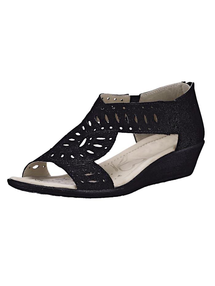 Caprice Sandals, Black