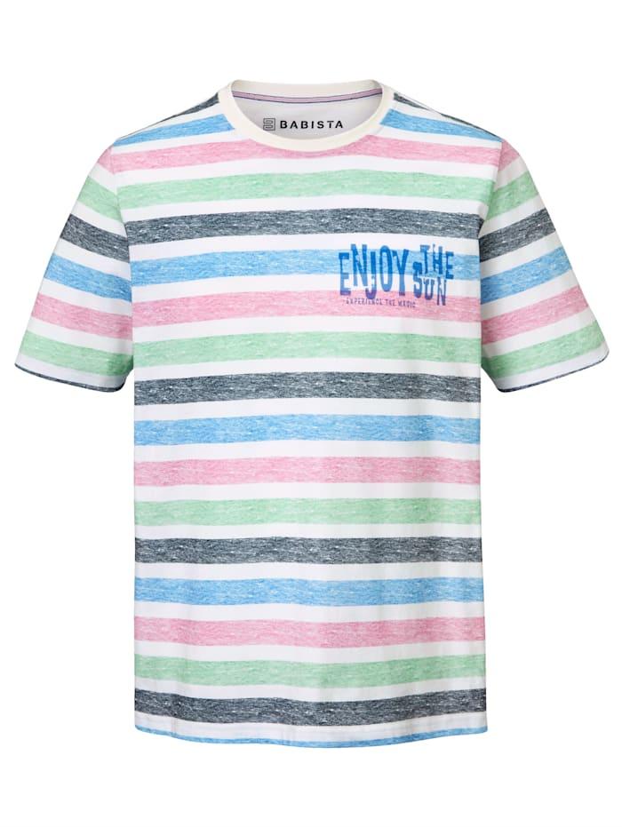 T-Shirt mit bedrucktem Streifenmuster