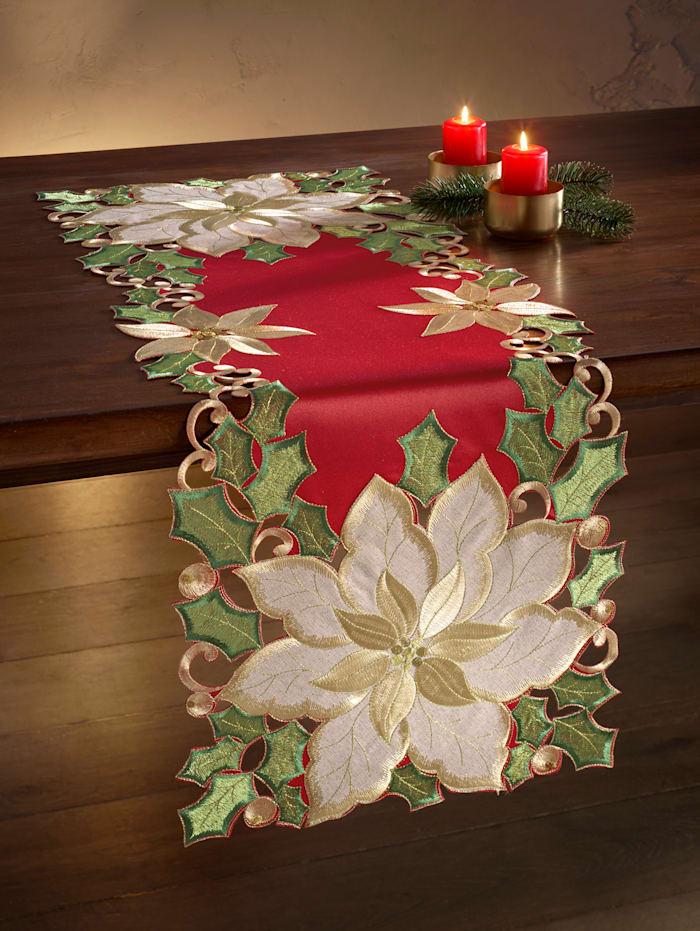 Webschatz Linge de table 'Helena', Rouge/coloris or