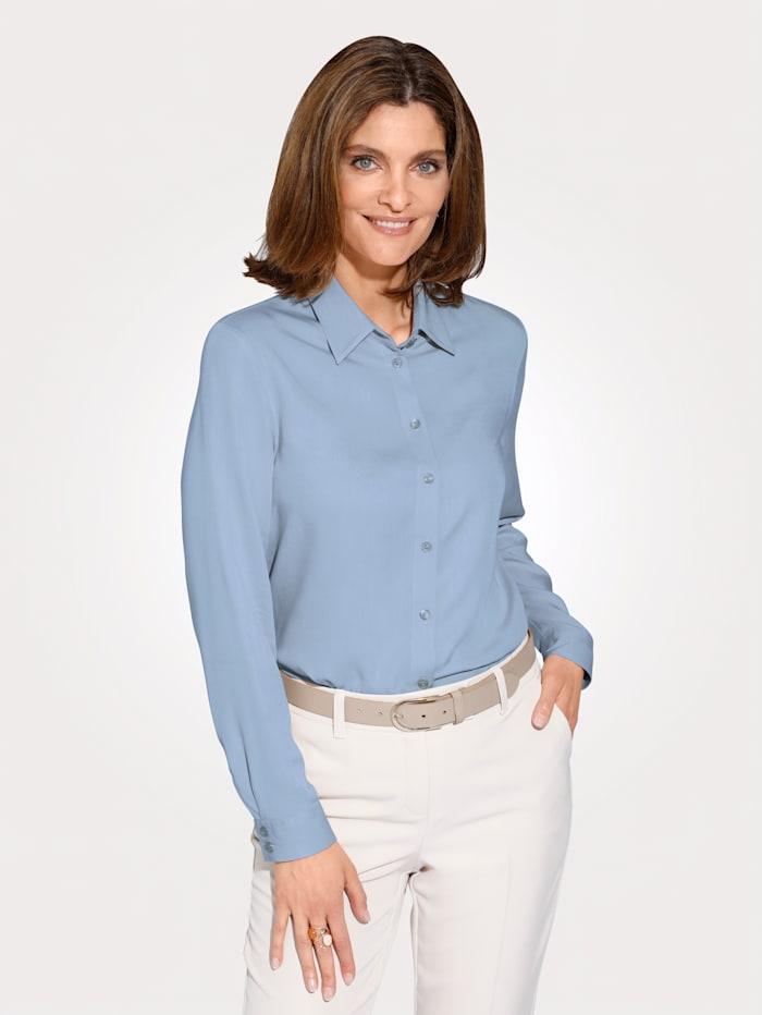 MONA Bluse aus reiner Viskose, Hellblau