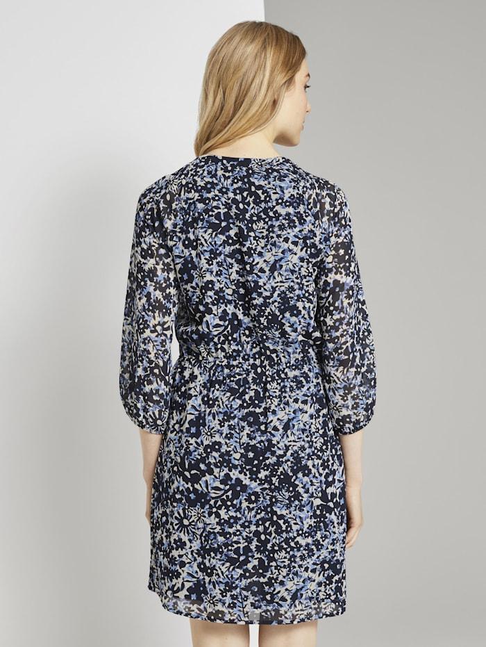 Chiffon-Kleid mit Blumenprint