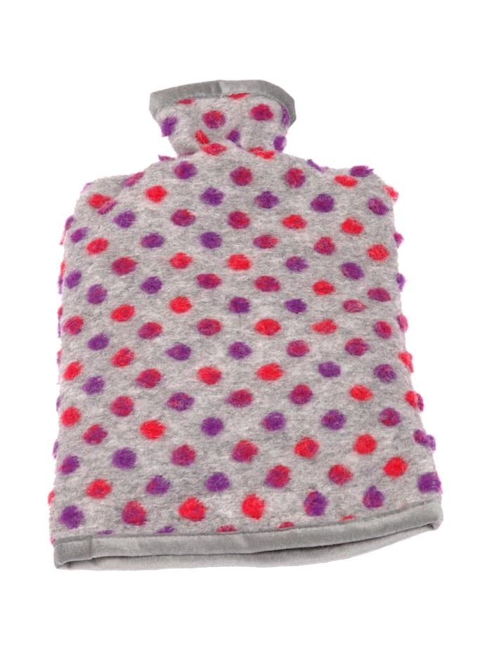 Linke Licardo Wärmflaschenbezug Wolle Noppen 20/30 cm, silber