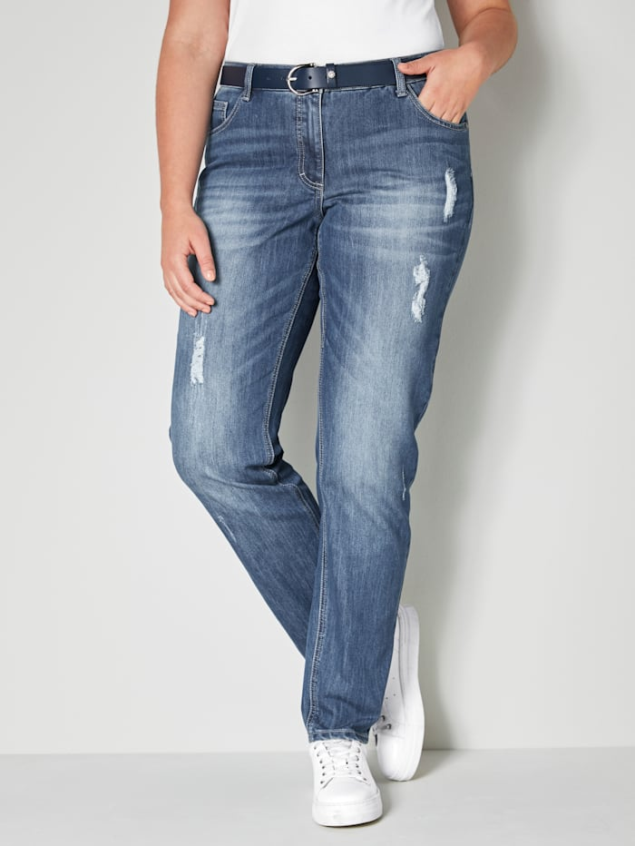 Angel of Style Slim Fit jeans, Blauw