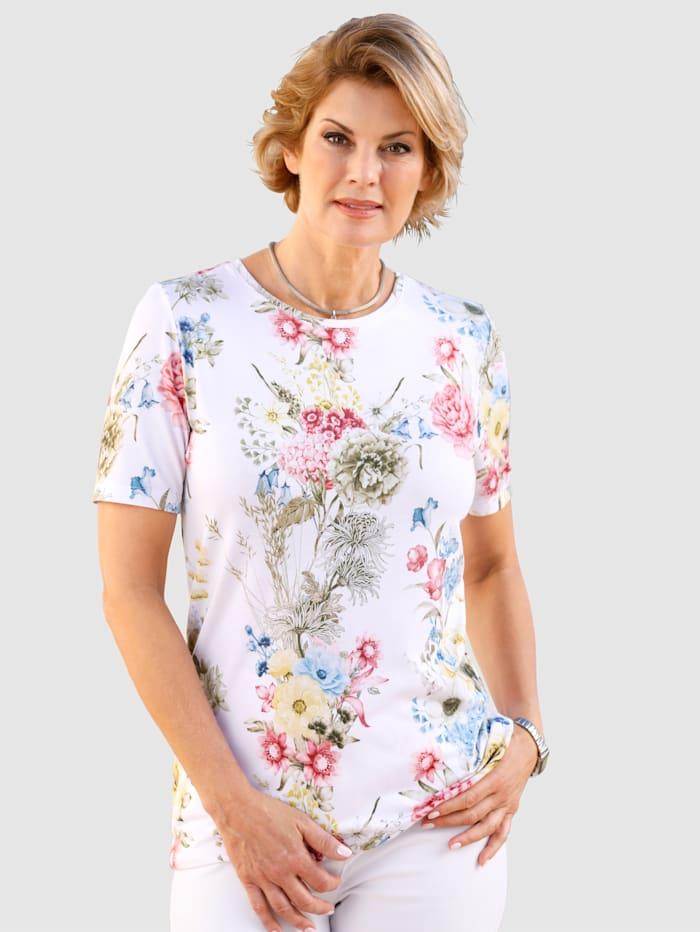 Paola Shirt mit Blumendruck, Weiß
