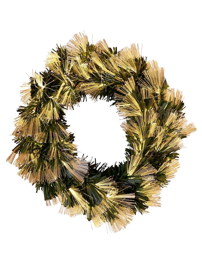 Reinart Faelens Kunstgewerbe Led-kerstkrans, donkergroen