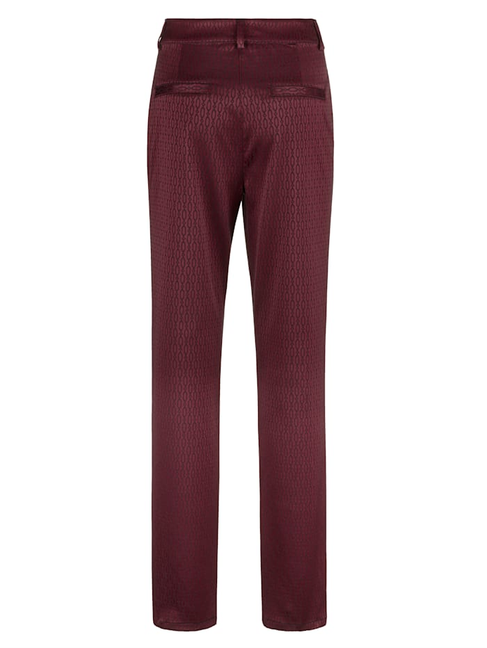 Trousers in an allover graphic print