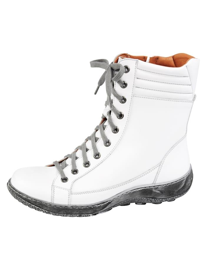 Naturläufer Schnürstiefelette, Weiß