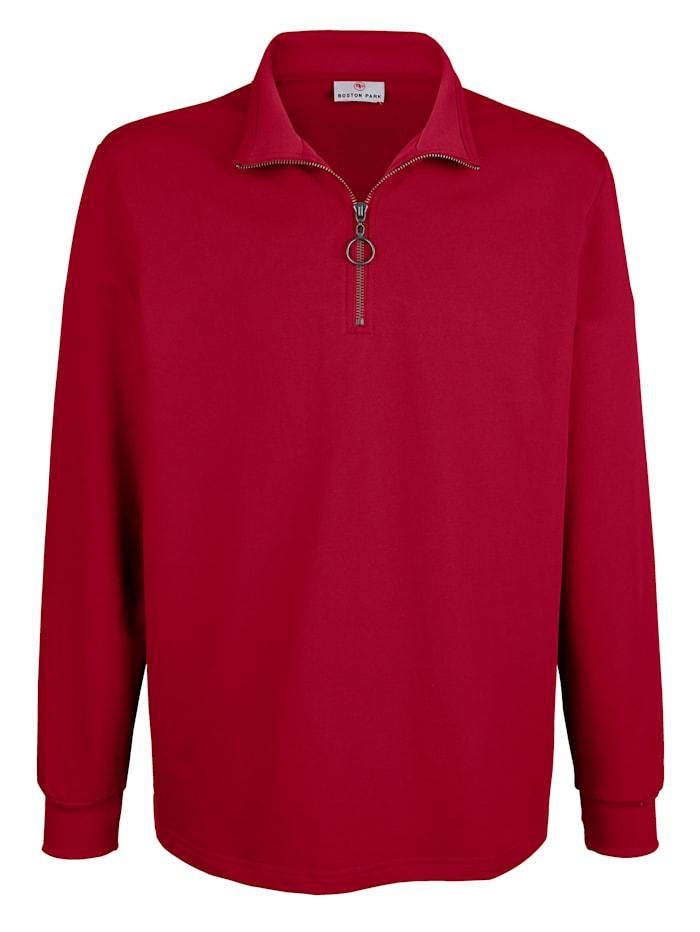 Sweatshirt met print aan de buitenkant van de kraag