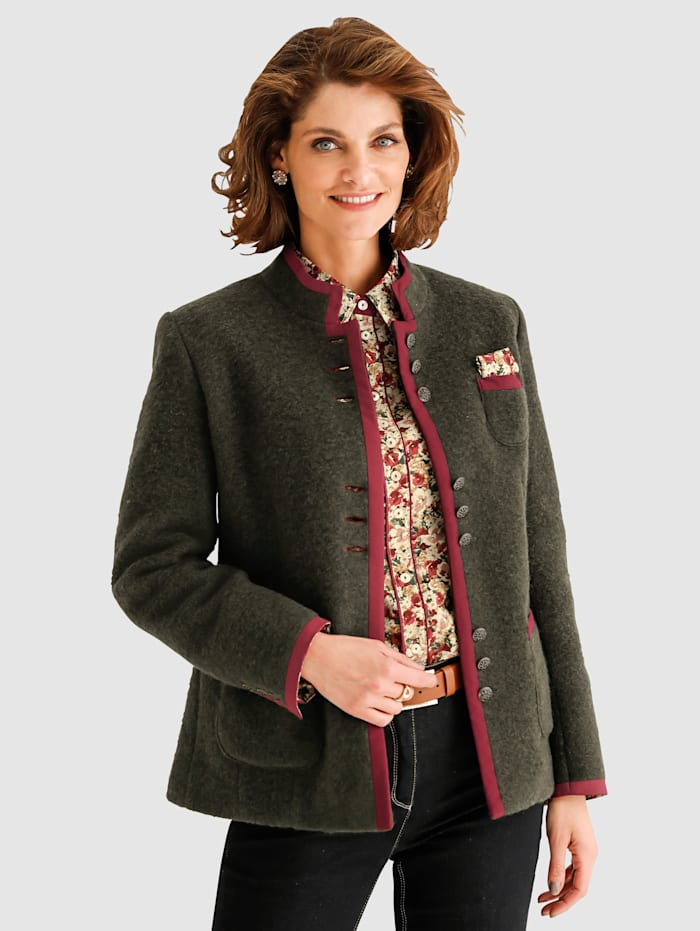 Veste en laine feutrée en laine mélangée