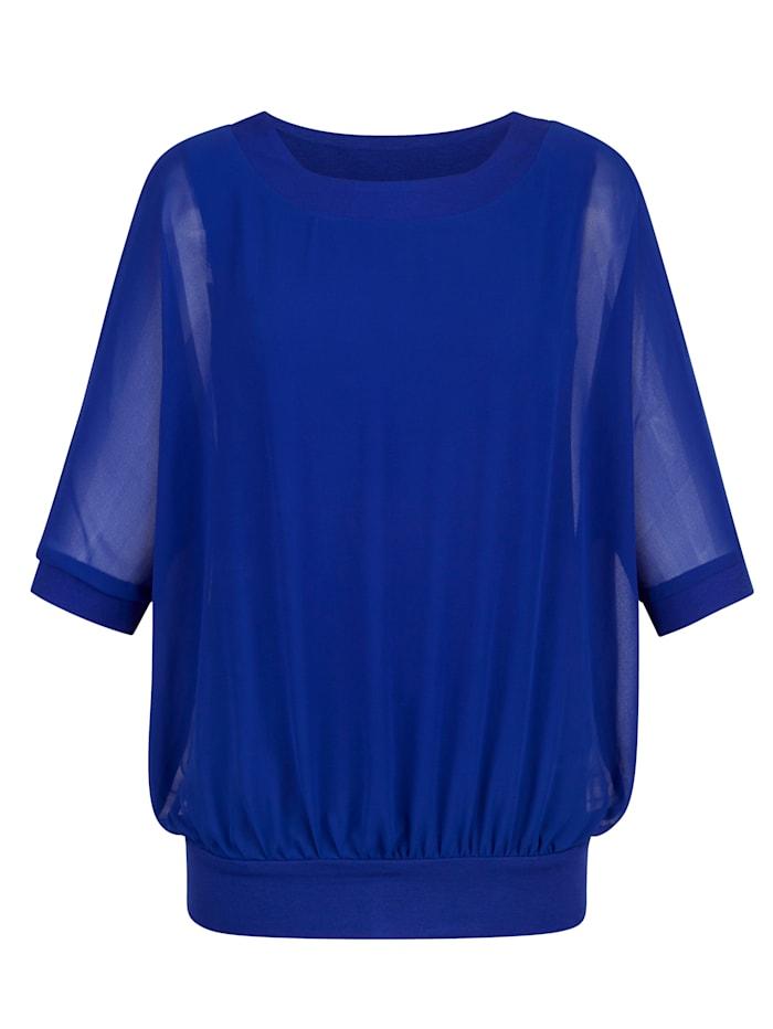 AMY VERMONT Blusenshirt mit Fledermausärmeln, Royalblau