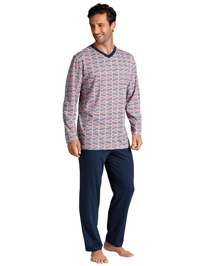 T-shirt + pantalon + short de pyjama, Marine