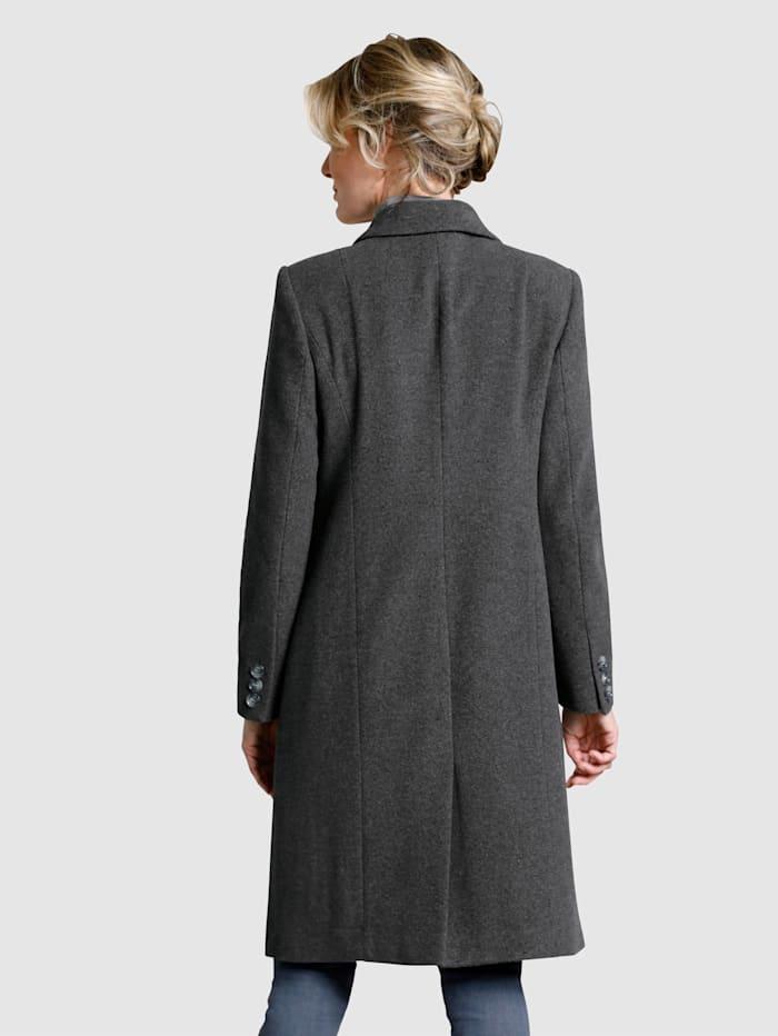 Manteau en laine mélangée de longueur genou