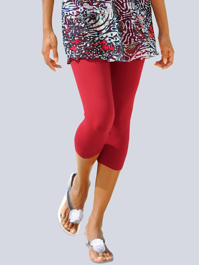Alba Moda Legging corsaire, Rouge
